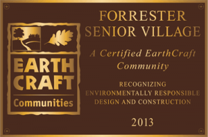 Earth Craft Forrester Plaque